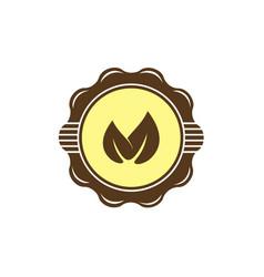 Leaf emblem logo template vector
