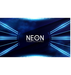 magic neon light effect motion beam design vector image