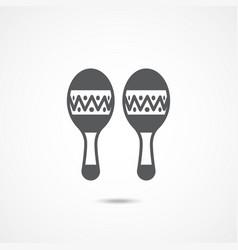 maracas flat icon vector image