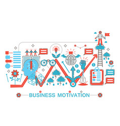 modern flat thin line design business motivation vector image