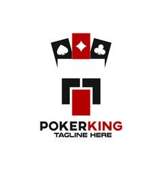 modern poker king logo vector image