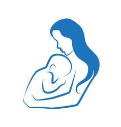 mother and her child sketch vector image