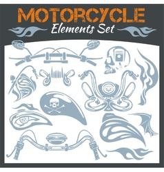 Motorcycle elements set vector