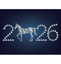 new year 2026 creative greeting card with horse vector image