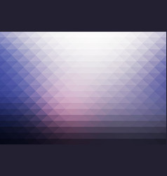 Pale pink blue rows of triangles background vector