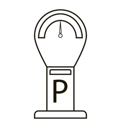 Parking time icon outline style vector