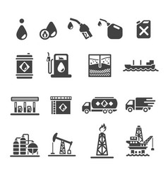 petroleum oil icon vector image