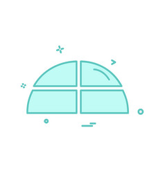 pie chart icon design vector image