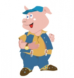 piggy vector image