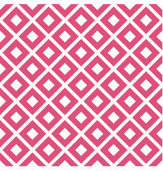pink rhombus geometric seamless pattern vector image