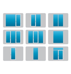 Plastic PVC Windows vector image