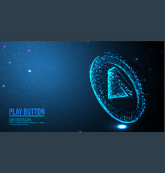 Play button playing video music streaming vector
