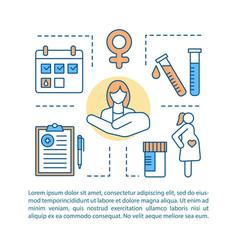 Pregnancy concept linear vector