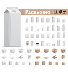 retail packages set vector image