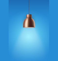 Retro brass stylish ceiling cone lamp vector