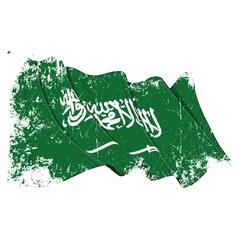 Saudi Arabia Flag Grunge vector image