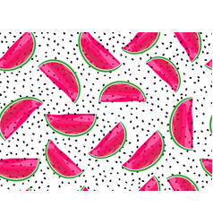 seamless pattern with watermelons slices vector image