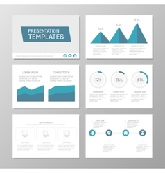 Set of blue template for multipurpose presentation vector