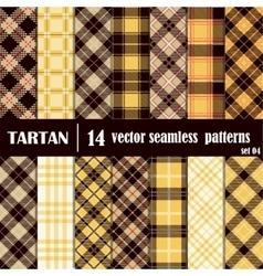 Set Tartan Seamless Pattern vector