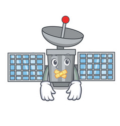 Silent satelite mascot cartoon style vector