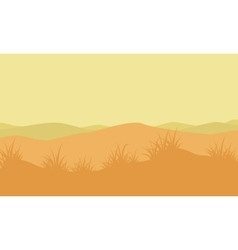 Silhouette of mountain with fog landscape vector