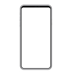 smartphone with a blank screen vector image