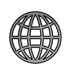 Sphere planet isolated icon vector