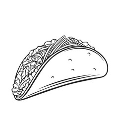 tacos outline vector image