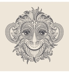 Tattoo design head monkey vector