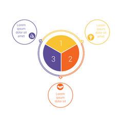Template for info grapchics diagram 3 cyclic vector