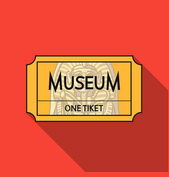 ticket to the museum icon in flat style isolated vector image