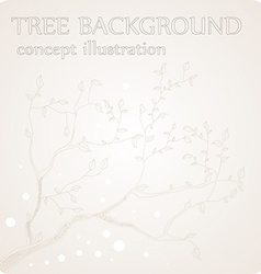 Tree Background Sketch vector