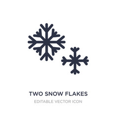 Two snow flakes icon on white background simple vector