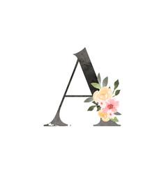 Watercolor decorative letter vector