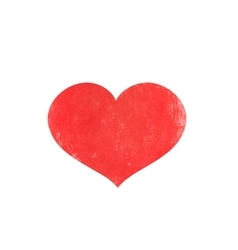 Watercolor red heart for Valentine s day vector image