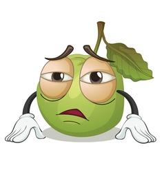 a green apple vector image vector image