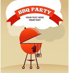 BBQ Party invitation vector image