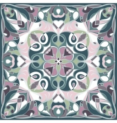 Bright green and lilac handkerchief vector