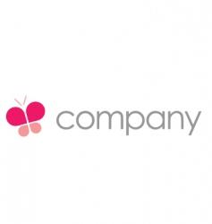 butterfly logo beauty salon vector image