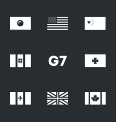 set of g7 union icons vector image vector image