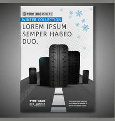 tyre poster image vector image vector image