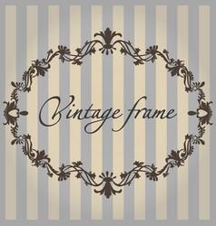 vintage frame flower ornament color vector image vector image