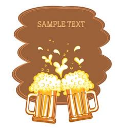 beer fest background vector image vector image