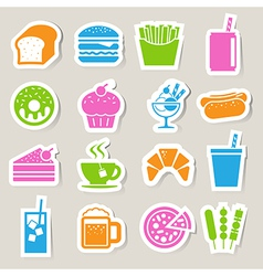 Food Drinks sticker icon set vector image vector image