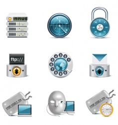 internet and network icons vector image