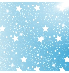 Starry Sky on Blue Background vector image