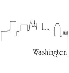 Washington city one line drawing vector