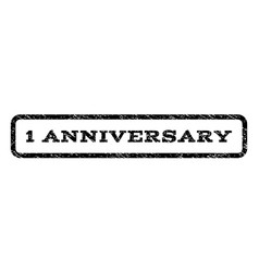 1 anniversary watermark stamp vector