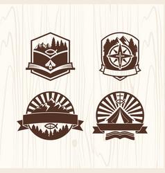 A set logos christian camp vector