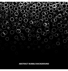 Abstract bubble background vector